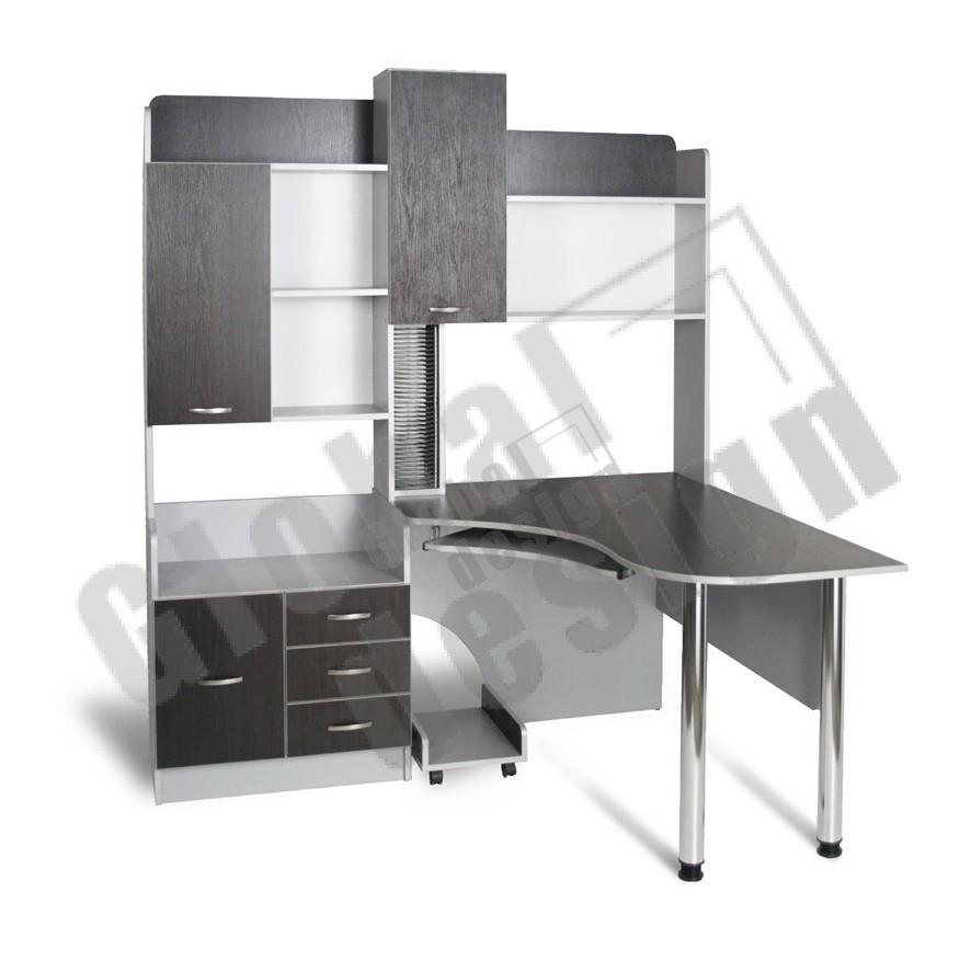 Угловой компьютерный стол с надстройками своими руками97